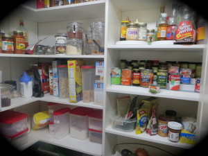 My pantry barely holds enough food for a growing nine year old.  We're going to have to knock out a wall for when he turns 16.